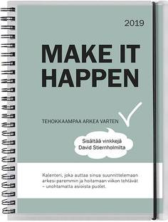 Pöytäkalenteri Make it happen 2019 - Pöytäkalenterit - 7332696122098 - 1